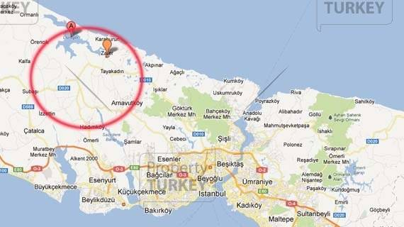 Terkos map