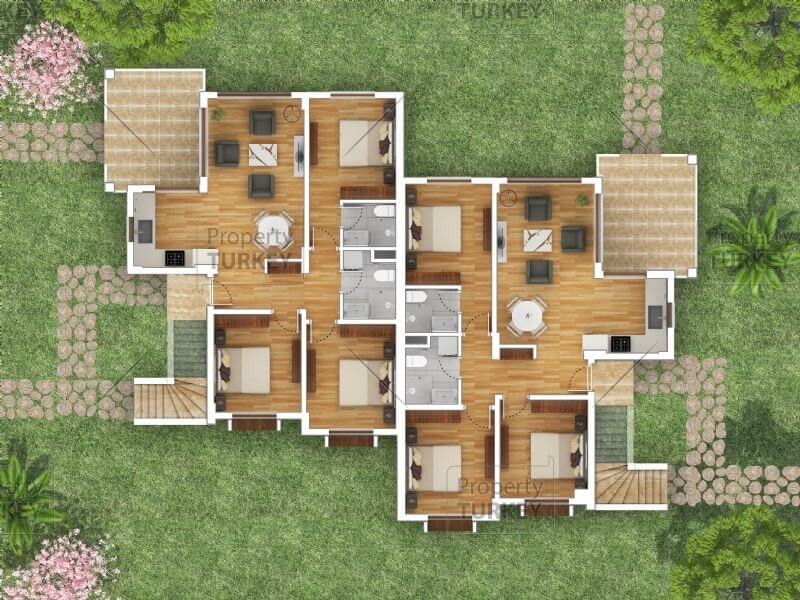 3+1 apartments site plans
