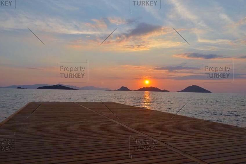 Turgutreis private beach access villa for sale