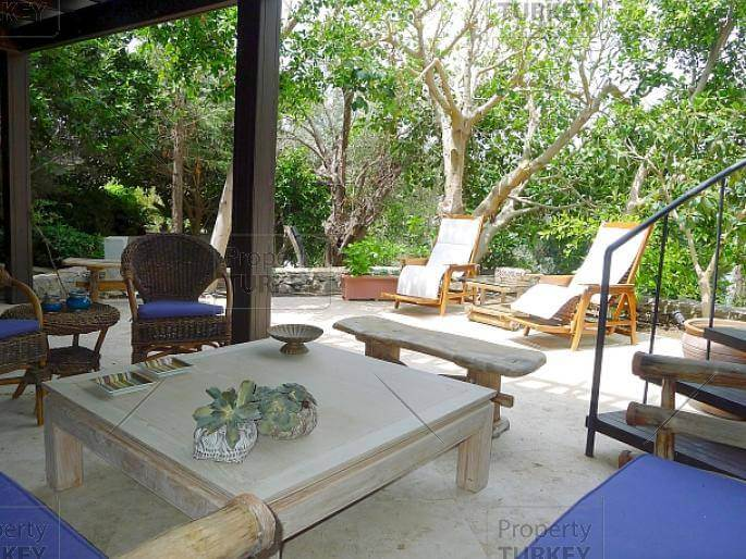 Garden area fully furnished