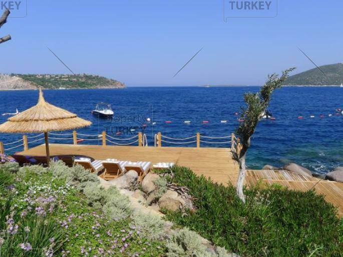 Private platform by sea