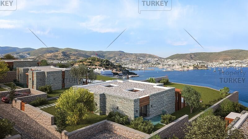 Bodrum castle view villas for sale
