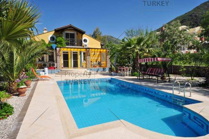 Beautiful detached house in Uzumlu with great view