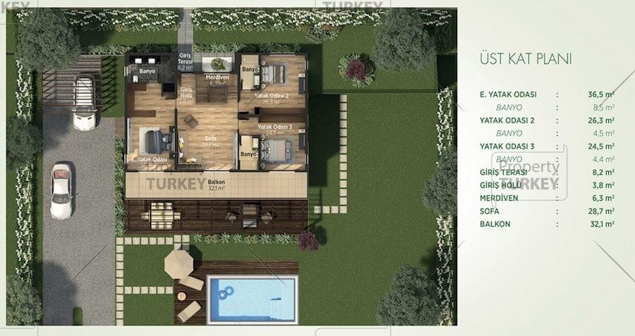 Duplex villa layout