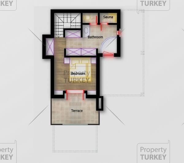 Plan of the top floor