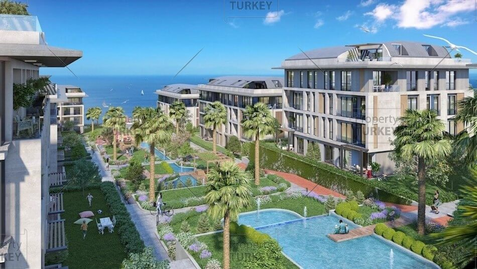 Sea views from the complex