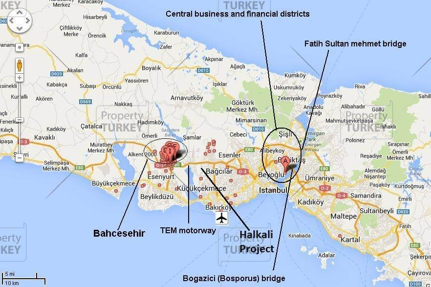 location of Halkali Istanbul