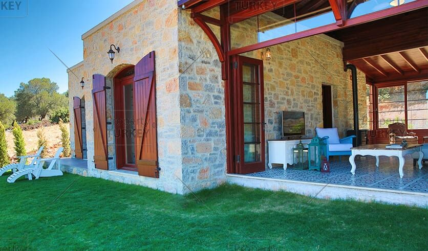 Bodrum Yali stone houses for sale