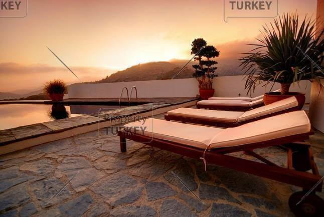 Swimming pool relaxing areas