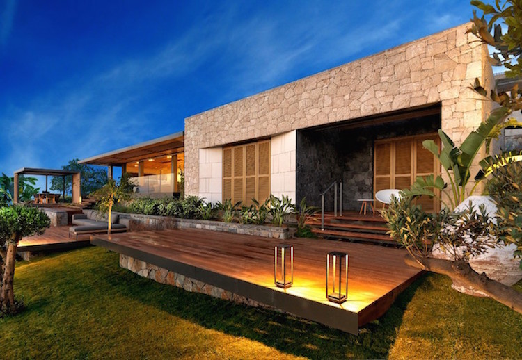 Villas exterior look