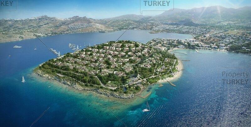 Villas aerial view
