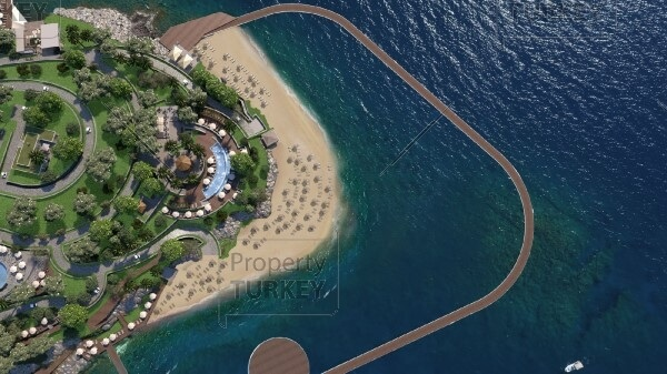 Project with private beach access