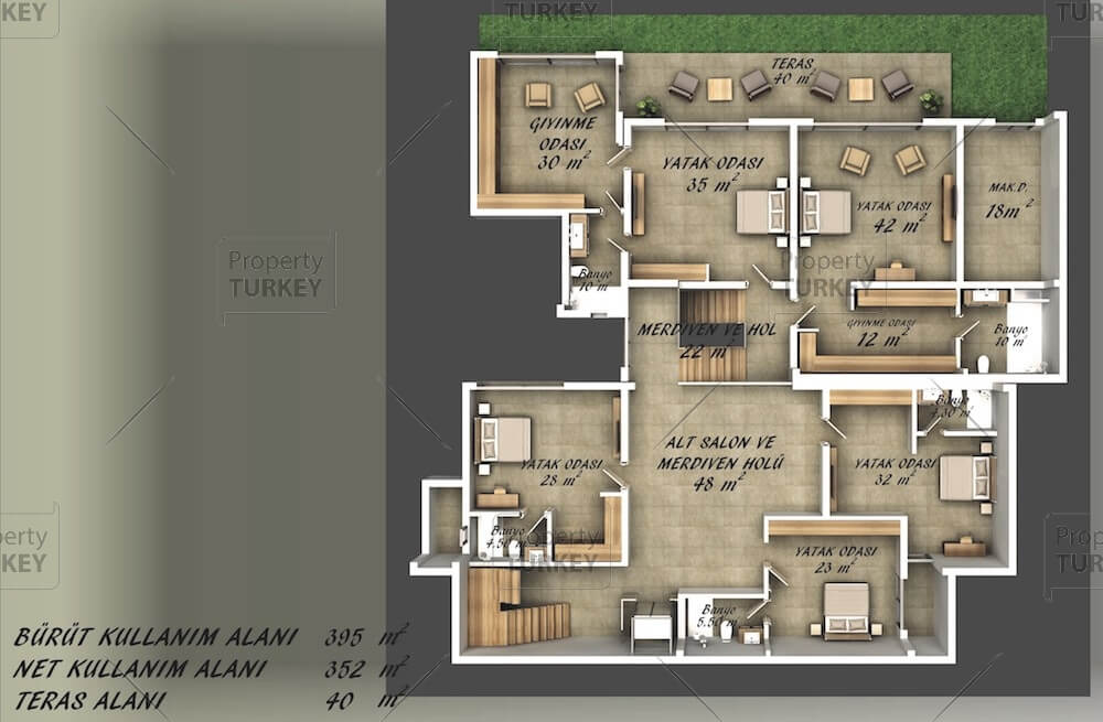 Site plans of the first floor
