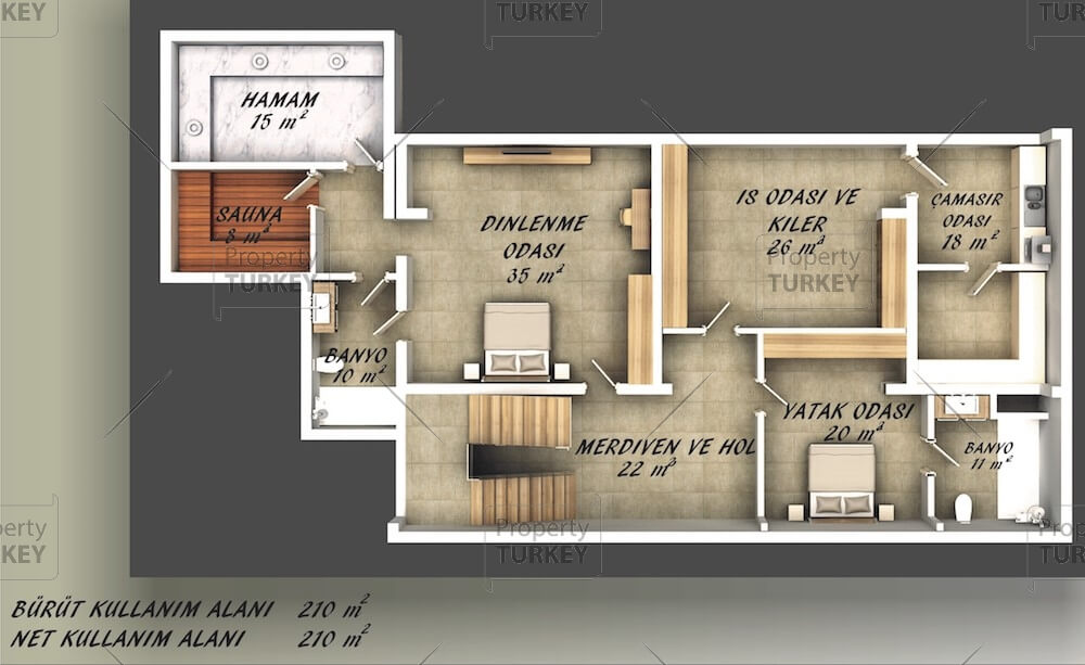 Site plans of the second floor