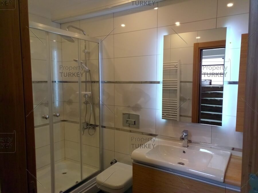 Shower in the bathroom