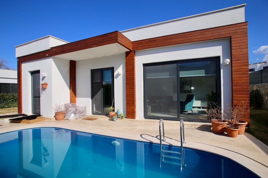Detached villa in yalikavak with private pool and large for 50000 pool design
