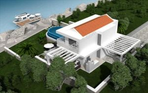 Villa opposite Meis kas waterfront