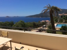 Apartment with sea view for sale in Kalkan