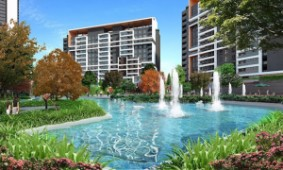 Lake panorama family residences in elite Bahcesehir