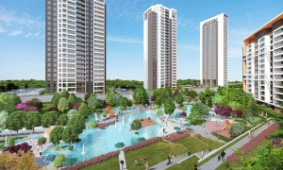 Luxury apartments with panoramic lake view Bahcesehir