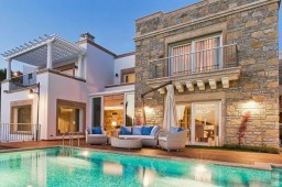 Luxury villa Bodrum castle and town view