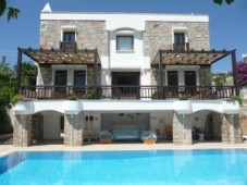 Castle view mansion for sale in Bodrum