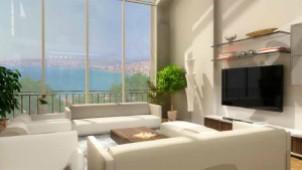 Sea view living room