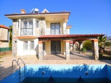 Stone detached villa for sale in Calis