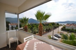 Furnished sea view apartment close to promenade in Fethiye