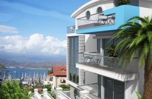 Sea view marina apartments Fethiye