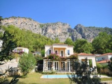 Bargain detached Gocek mountain view villa with pool