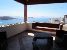 Views to the Greek islands villa for sale in Gumusluk