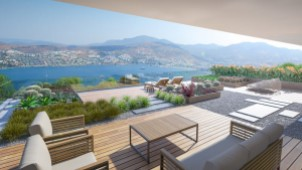 Gundogan villas with panoramic views for sale