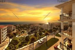Sea view apartment for sale in Beylikduzu