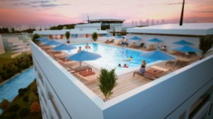 Shared pool terrace