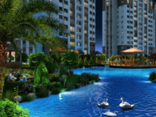 Artificial lakes and gardens