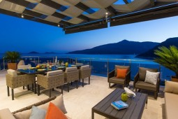 Kalkan villa huge rooftop terrace
