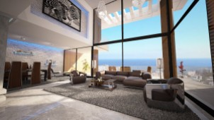 Sea view apartments for sale in Kyrenia
