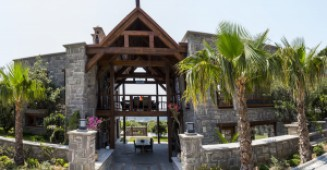 Stone house with panoramic views for sale in Gumusluk