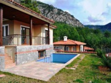Villa with mountain views for sale in Gocek
