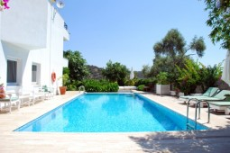 Poolside view of property in Bodrum