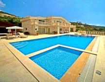 waterfront villa in Kalkan prime location with beach platform