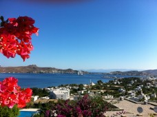 Yalikavak bay view from lovely home for sale